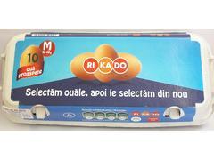 Oua M (53 - 63 g) 10 bucati caserola carton Rikado