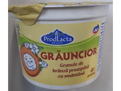 Granule de branza proaspata cu smantana 4% grasime 175 g ProdLacta