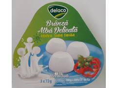 Branza alba calcica pentru copii 3 x 72 g Delaco
