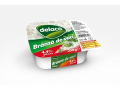 Branza de vaci 4.4% grasime 250 g Delaco