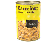 Ciuperci de Paris taiate 400 g Carrefour