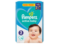 Scutece Pampers Active Baby Maxi Pack, 6-10 kg, 70 buc