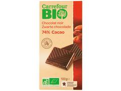 Ciocolata neagra cu 74% cacao 100 g Carrefour Bio