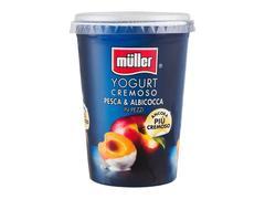Iaurt cu bucati de piersici si caise Muller 500 g