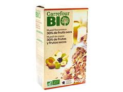 Muesli crocant cu fructe & fibre 500 g Carrefour Bio