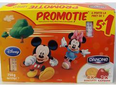 Iaurt cu biscuiti si capsuni Disney 6x125g Danone