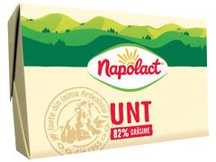 Unt Napolact 82% grasime 180g