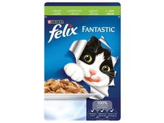 Hrana umeda cu vita in aspic pt pisici adulte Purina Felix Fantastic 100