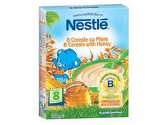 """ Cereale Nestlé® 8 Cereale cu Miere, 250g, de la 12 luni  """