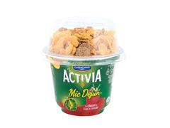 Iaurt cu capsuni si fulgi de cereale Mic Dejun Activia 168 gDanone