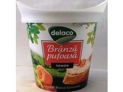Crema branza pufoasa cu somon 140 g Delaco
