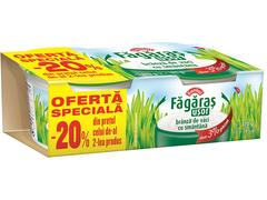 Branza de vaci cu smantana Fagaras 3% grasime 2 x 185 g Raraul