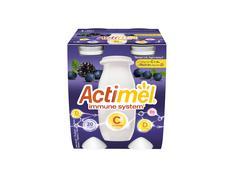 Actimel Iaurt de Baut Afine/Mure/Vitamina C, 4x100g