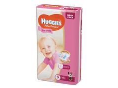 Scutece ultra comfort pentru fete 4+, 60 buc, 10 - 16 kg Huggies