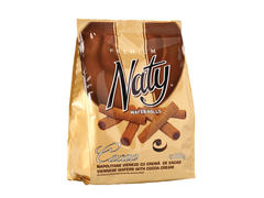Napolitane vieneze cu crema de cacao Naty Premium Wafer Rolls 200g