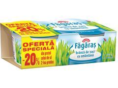 Branza de vaci cu smantana Fagaras 2 x 185 g Raraul