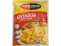 Cartofi congelati oven crinkle 750 g Farm Frites
