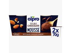 Alpro desert - mousse pe baza de ciocolata-alune 2x70g