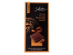 Ciocolata neagra cu bucati de boabe de cacao caramelizate 100 g Carrefour Selection