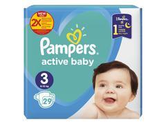 Scutece Pampers Active Baby Marimea 3, 6-10 kg, 29 buc