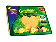 Branza maturata feliata Grunlander selectie de gusturi 120g Hochland