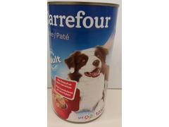 Pateu cu vita & morcovi pentru caini 1230 g Carrefour