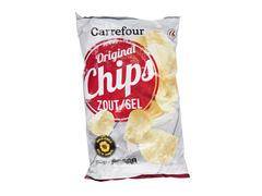 Chipsuri cu sare Carrefour 250 g