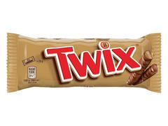 Batoane cu biscuiti, caramel & glazura de ciocolata cu lapte Twix 50 g