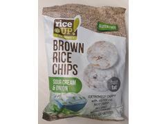 Chips din orez brun integral cu smantana & ceapa 60 g Rice Up