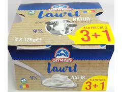 Iaurt natural 4% grasime 4x125g 3+1 Oly