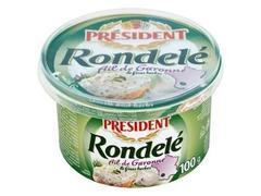 Crema de branza cu usturoi 100 g President