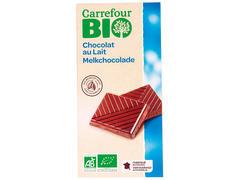 Ciocolata cu lapte 40 % cacao 100 g Carrefour Bio