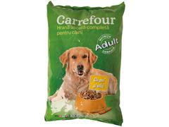 Hrana uscata cu pui si vita pentru caini 3 kg Carrefour