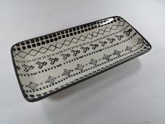 Platou dreptunghiular din ceramica 29.5 x 14 cm Tahila