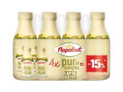 #LAPTE BATUT2% 4X330G -15%NAPO