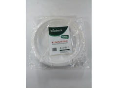 Set 8 farfurii biodegradabile, rotunde, 22 cm