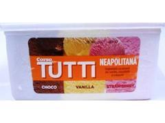 Inghetata cu aroma de vanilie, ciocolata & capsuni Tutti Neapolitana 2 l Corso