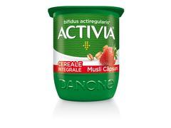 Activia Iaurt cu Cereale Integrale, Musli și Căpșuni 125g