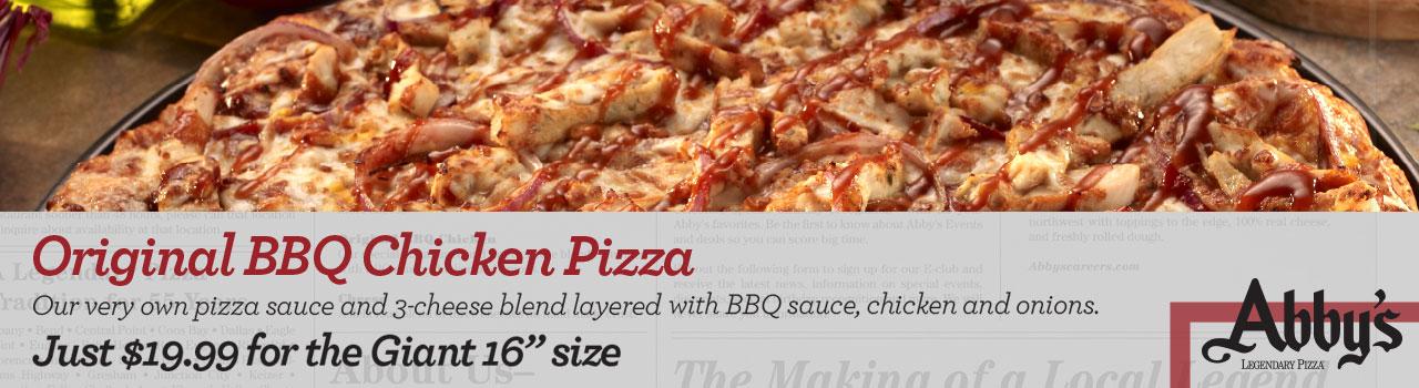 Original BBQ Chicken Pizza