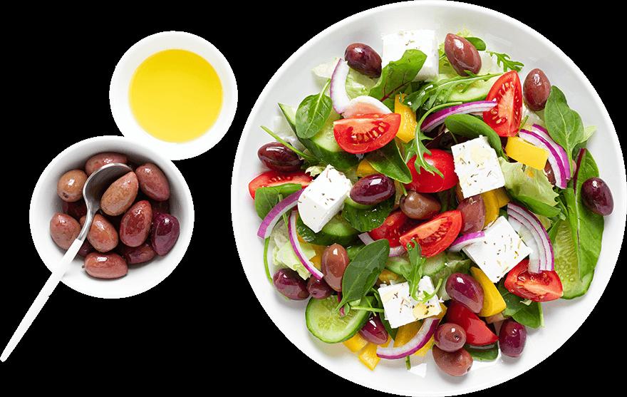 Salad with Olive Oil & Olives
