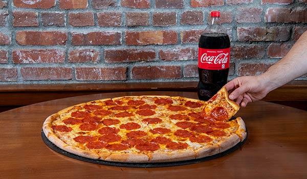 Jumbo One Topping Pizza & Soda
