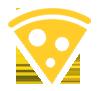 Yellow Pizza Slice