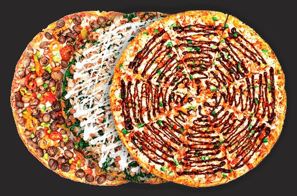 3 Medium Specialty Pizzas