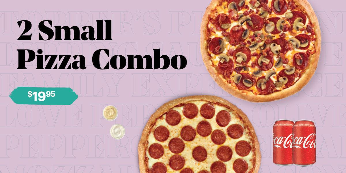 2 Small Pizza Combo