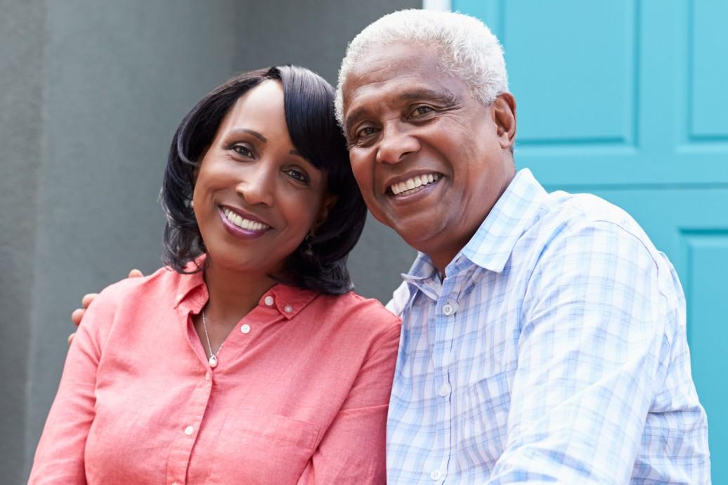 Senior couple looking for the right senior living community villas