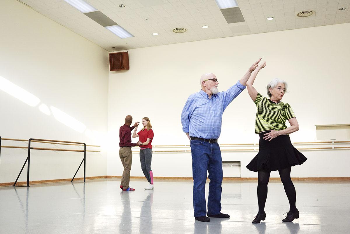 Seniors dancing at Broadview
