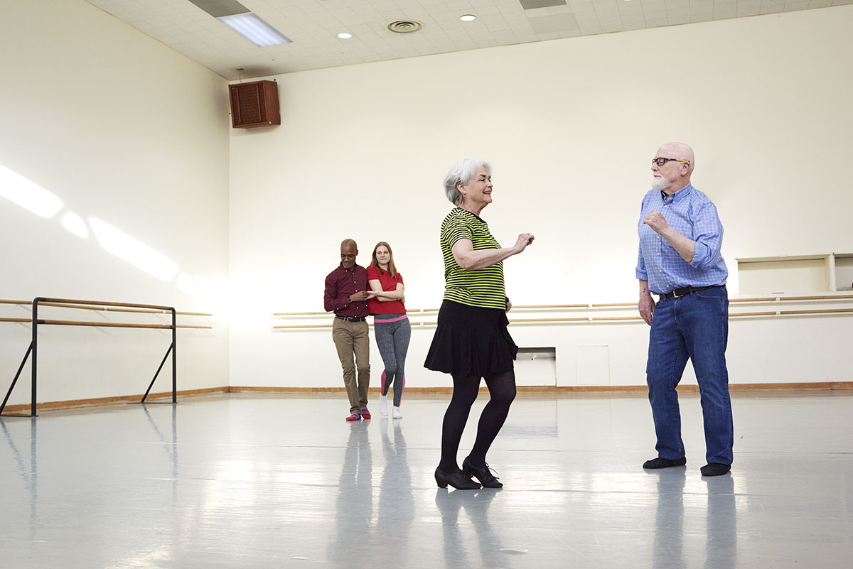 Senior dancing class