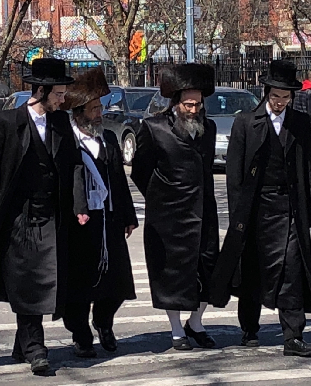 The Hassidic Jewish neighborhood