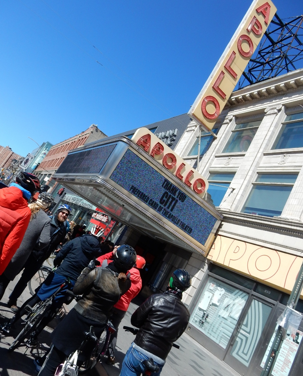 The landmark Apollo Theater