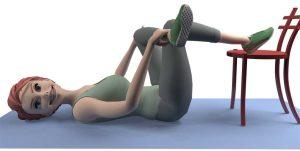 Exercice sciatique: étirement du muscle piriforme (pyramidal)
